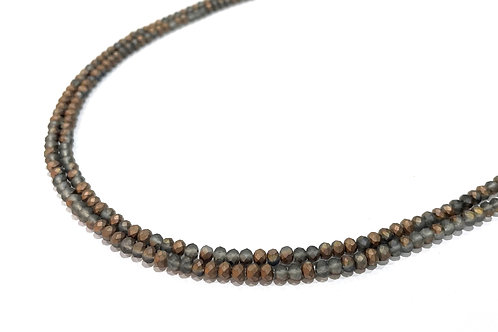 crystal glass rondelle copper beads 3mm