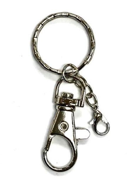 Keyring/Bag Clip - Silver