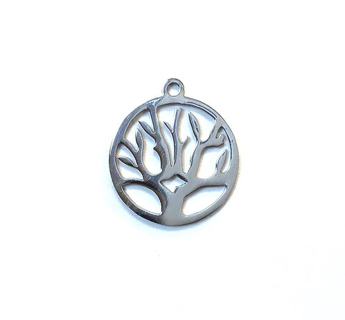 Stainless Steel Tree Pendant Charm