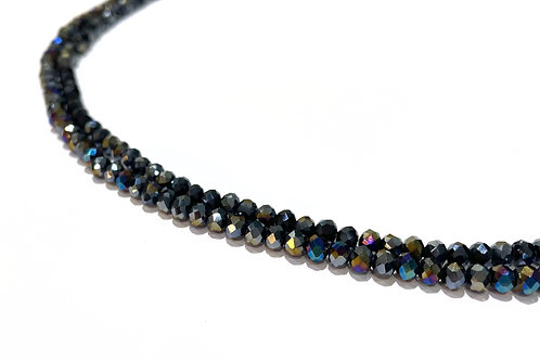 crystal glass rainbow AB rondelle beads 4mm