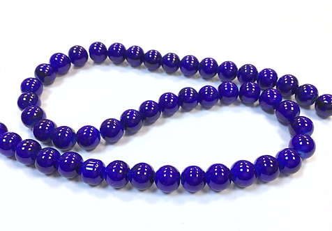 Glass Beads, Blue - 8mm