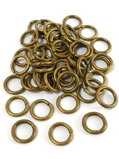 8mm Jump Rings - Bronze Plated