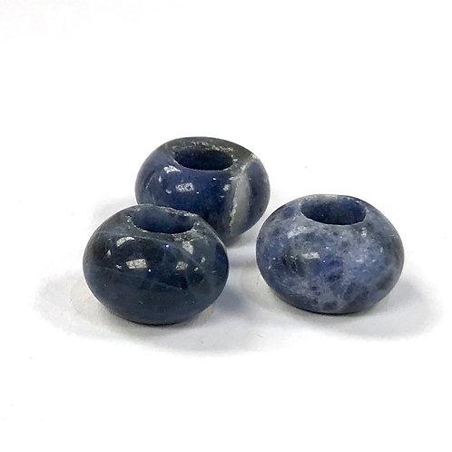 Gemstone Large Hole Bead - Sodalite