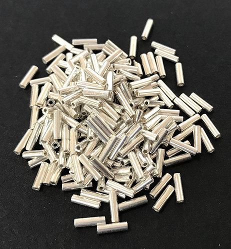 Miyuki Bugle Beads - Galvanised Silver