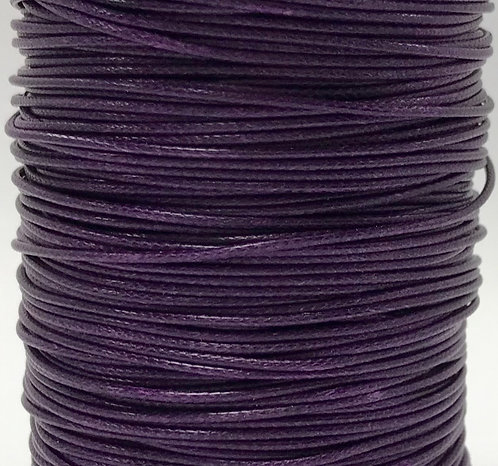 Wax Cotton Cord 1mm - Purple