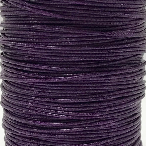 Wax Cotton Cord 1mm - Purple