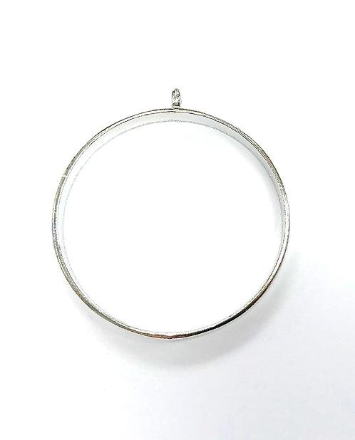 Large Round Bezel Frame Setting Inner: 32mm - Silver Tone