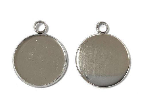 Stainless Steel Jewellery Setting - Fits 18mm