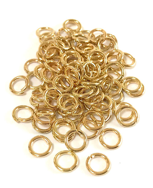 7mm Jump Rings (1mm) - Light Gold Plated