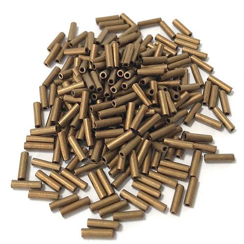 Miyuki Bugle Beads - Matte Metallic Dark Bronze