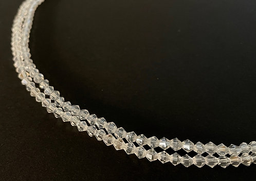 crystal glass clear bicone beads 4mm