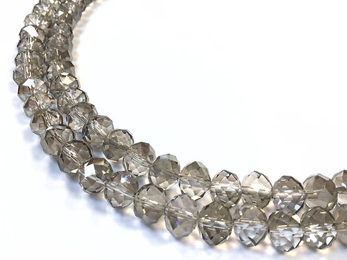 crystal glass rondelle beads