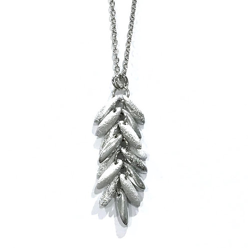 handmade silver feather necklace
