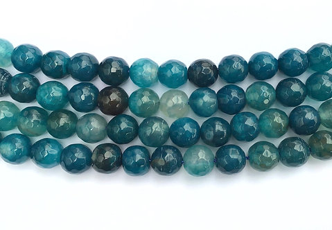 10mm Agate Beads - Blue