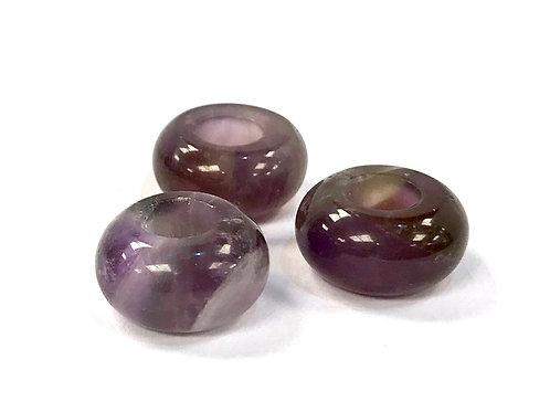 Gemstone Large Hole Bead - Amethyst