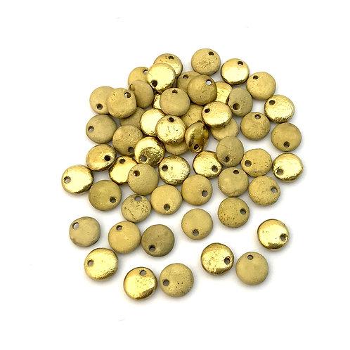 gold lentil beads
