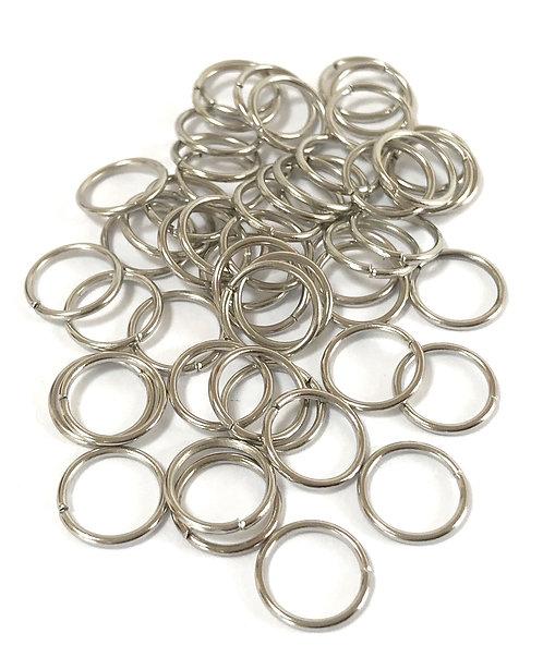 10mm Jump Rings - Silver Tone