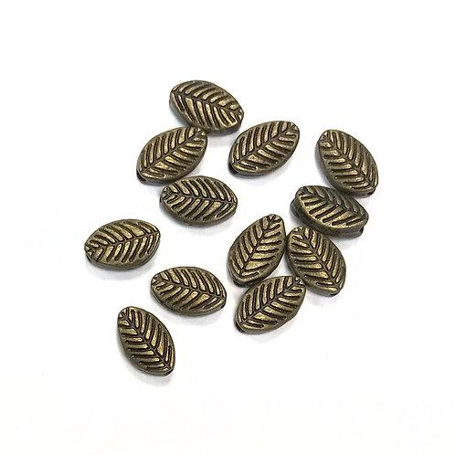 Leaf Beads, Bronze Tone - Pack of 20