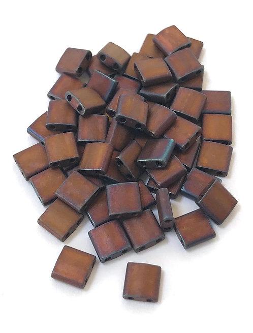 Miyuki Tila Beads - Matte Metallic Copper