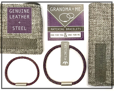 GRANDMA + ME  - Matching Leather Bracelets