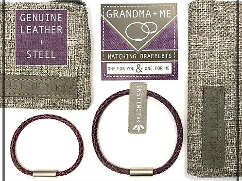 GRANDMA + ME  - Matching Leather Bracelets
