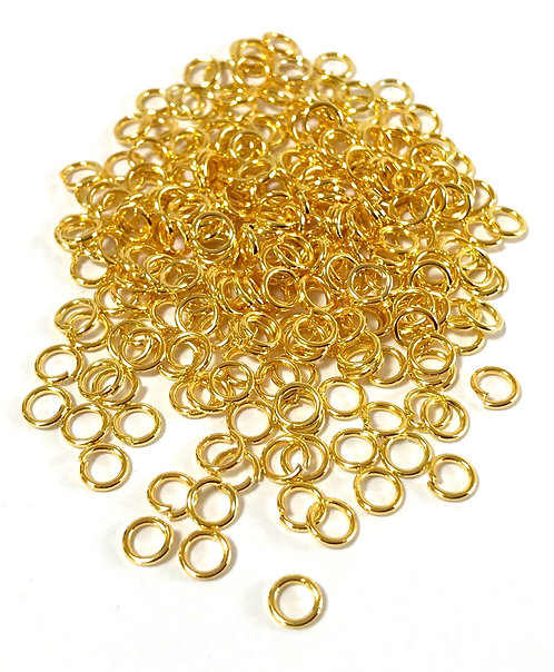 4mm Jump Rings - Gold Plated