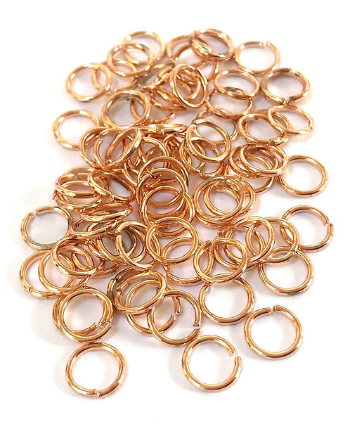 7mm Jump Rings - Rose Gold Plated