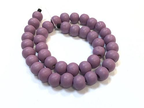 purple round wood beads 8mm