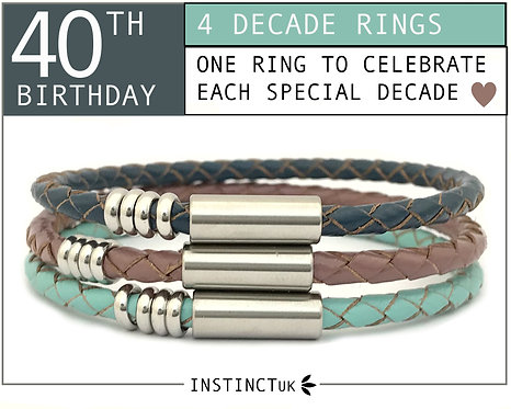 40TH DECADE BRACELET FOR HER