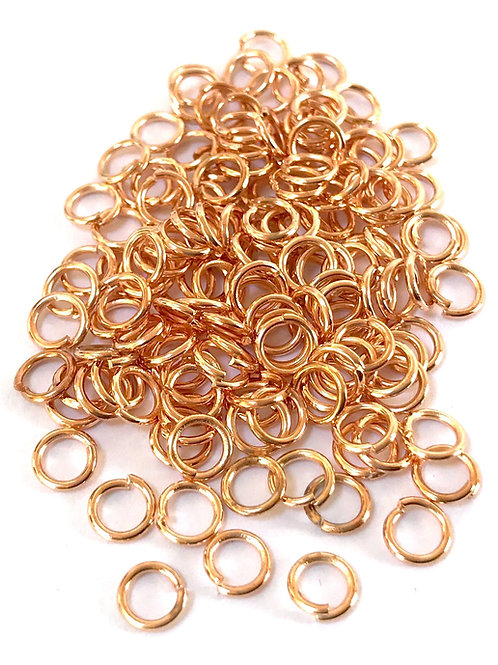 5mm Jump Rings - Rose Gold Plated
