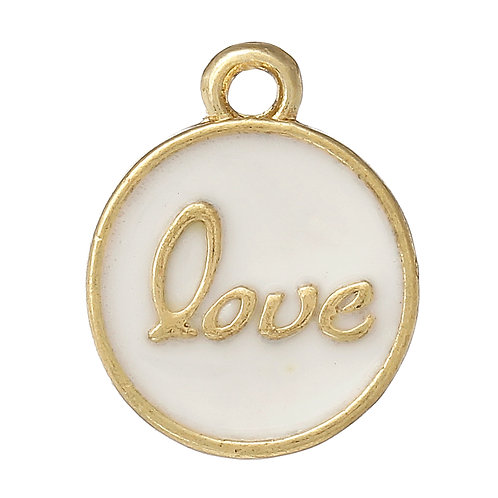 Love Tag - Light Gold