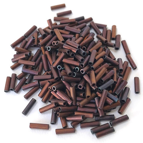 Miyuki Bugle Beads - Matte Metallic Copper