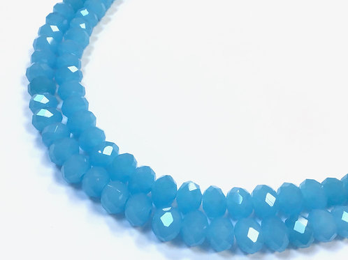 8mm opaque blue crystal glass beads