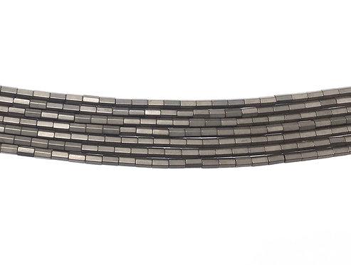 5x3mm Hematite Hexagonal Beads - Matte Brown