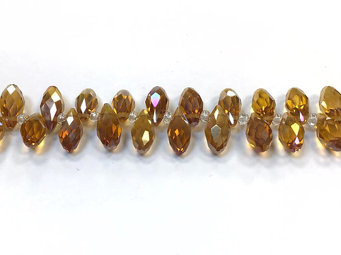 crystal glass teardrop beads