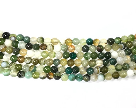 6mm Agate Beads - Green