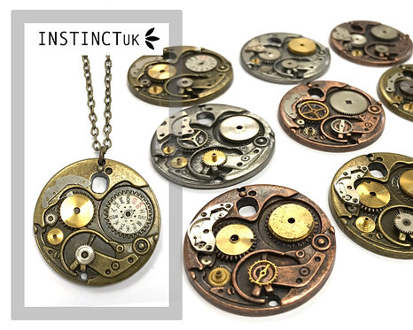 Large Mechanism Steampunk Necklace