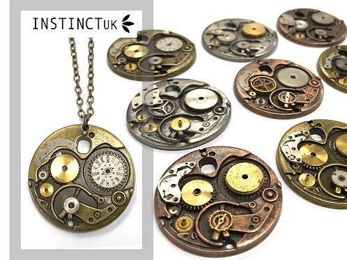Large Mechanism Steampunk Necklace