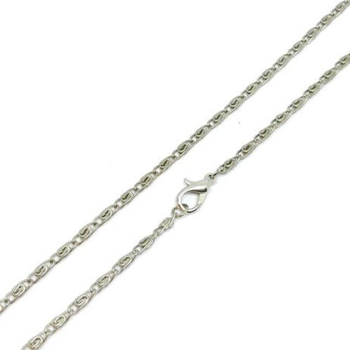 Soldered Link Chain 80cm - Silver Tone