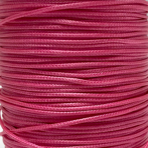 Wax Cotton Cord 1mm - Hot Pink