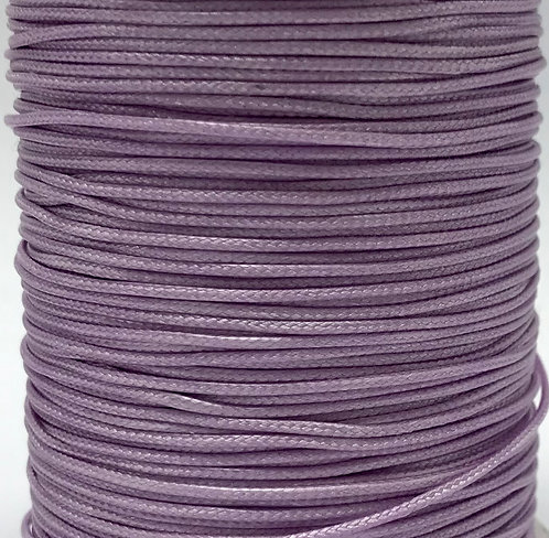 Wax Cotton Cord 1mm - Mauve