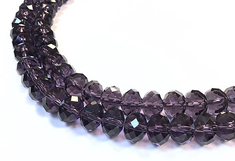 Purple crystal glass beads