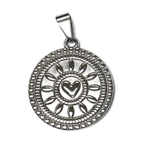 stainless steel decorative round pendant