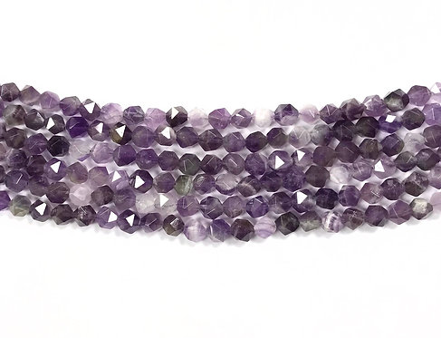6mm Amethyst Beads - Faceted