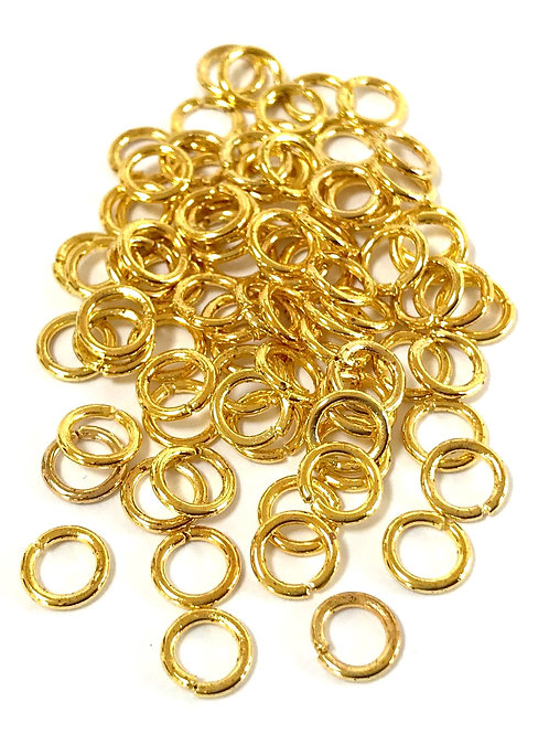 6mm Jump Rings - Gold Plated