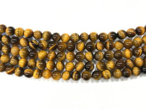 8mm Tigers Eye Beads