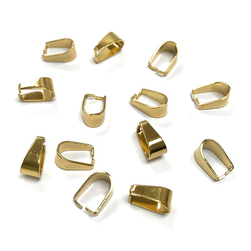 stainless steel gold plated pinch bail