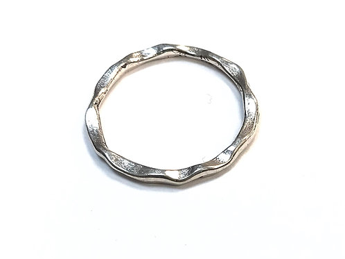 Linking Ring/Connector, Silver Tone