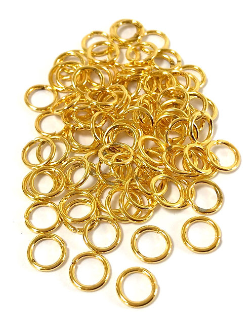 7mm Jump Rings - Gold Plated