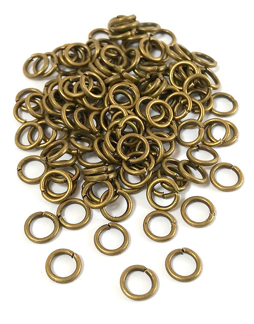 6mm Jump Rings - Bronze Plated